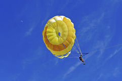Parasailer descending for landing Stock Photography