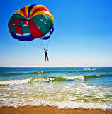 Parasailer over ocean Royalty Free Stock Photography