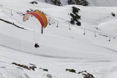 Parasailing в зиме Стоковое Изображение RF