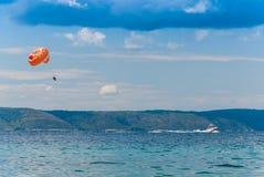 parasailing Хорватии Стоковые Изображения RF
