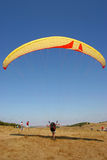 Paragliding. Take off Royalty Free Stock Images