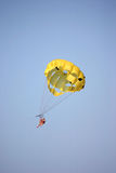 Parasailing. In Madeira Beach Florida royalty free stock photography