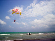 Parasailing. In Tunis Royalty Free Stock Images