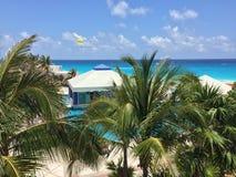 Parasailing above Caribbean Sean, Mexico Royalty Free Stock Image
