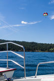 Parasailing adventure on the lake Royalty Free Stock Photos