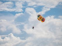 Parasailing on the Beach. Picture of Cenang Beach, Langkawi Malaysia Royalty Free Stock Images