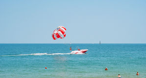 Parasailing in the Black Sea Royalty Free Stock Photo