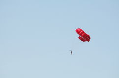 Parasailing and Blue Sky Royalty Free Stock Photo
