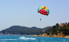 Parasailing and boat Stock Photos