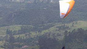 Parasailing in Clouds, Paragliding, Sky Diving stock video