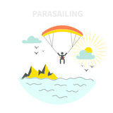 Parasailing Concept Stock Photography