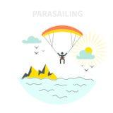 Parasailing Concept Stock Photography