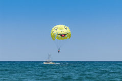 Parasailing Crete Royalty Free Stock Images