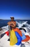 Parasailing crew Royalty Free Stock Images