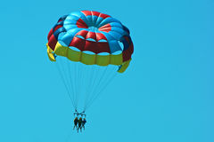 Parasailing in florida royalty free stock images