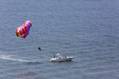 Parasailing in the Gulf of Mexico Stock Photo