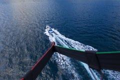 Parasailing i sommar på Adriatiskt havet Fotografering för Bildbyråer