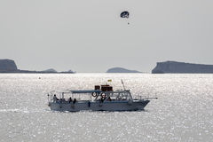 Parasailing at Ibiza coast Stock Image