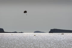 Parasailing at Ibiza coast Royalty Free Stock Photos