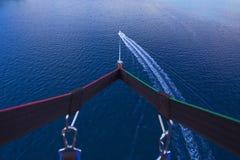 Parasailing im Sommer auf dem adriatischen Meer Stockbild