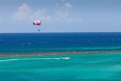 Parasailing in Jamaica Stock Photography