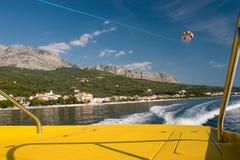 Parasailing in Kroatië Stock Foto's