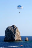 Parasailing at Los Cabos Royalty Free Stock Image
