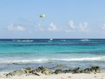 Parasailing on Mayan Riviera Stock Photography