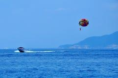 Parasailing in Nha Trang city, Vietnam. Stock Images