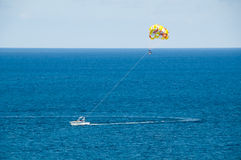 Parasailing in the Ocean Royalty Free Stock Photography