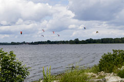 Parasailing on the Ottawa River Royalty Free Stock Image