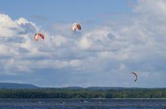 Parasailing on the Ottawa River Royalty Free Stock Photos