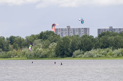 Parasailing on the Ottawa River Royalty Free Stock Photography