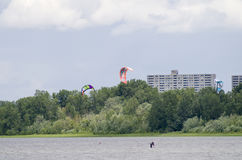 Parasailing on the Ottawa River Royalty Free Stock Photo