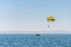 Parasailing over the Adriatic Sea Royalty Free Stock Photos