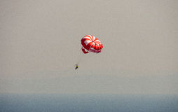 Parasailing over the Black Sea in Bulgaria Royalty Free Stock Images