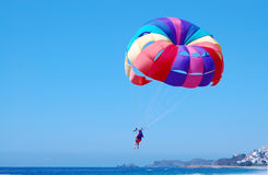 Parasailing over the Pacific Ocean Stock Images