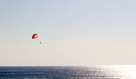 Parasailing over the sea. Royalty Free Stock Images