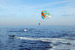 Parasailing Parachute Royalty Free Stock Photos