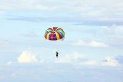 Parasailing parachute Free Flyin Stock Photo