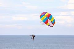 Parasailing parachute Free Flyin Royalty Free Stock Image
