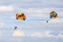 Parasailing parachute Free Flyin Royalty Free Stock Photo
