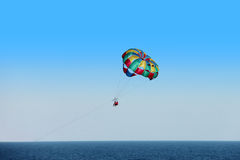 Parasailing parachute Royalty Free Stock Photography