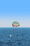 Parasailing parachute Stock Photos