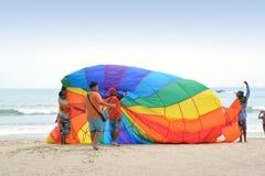 Parasailing at Patong beach Stock Photo
