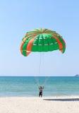 Parasailing at Patong Beach in Phuket Stock Image