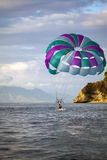 Parasailing at Puerto Galera, Philippines Stock Photos