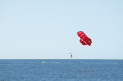 Parasailing Sea and Blue Sky Royalty Free Stock Image