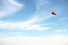 Parasailing. Showing para sailing at the beach Stock Image