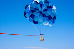 Parasailing in the Sky Royalty Free Stock Photos